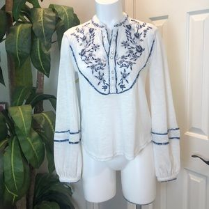 Free People Embellished Blouse